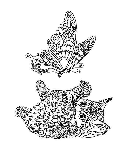 grown up coloring pages cats 485 best images about cat zentangle coloring on