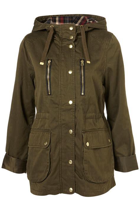 Sweater Hoodie Sweater Pria Outwear Jaket Sweater Fashion Pria lyst topshop khaki hooded talbot jacket in green