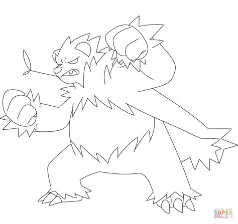 pokemon coloring pages inkay pangoro coloring page free printable coloring pages
