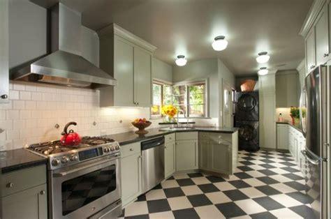 checkerboard kitchen floor design ideas - Checkerboard Kitchen Floor