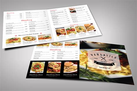 menu design mockup restaurant menu bundle brochure templates on creative market