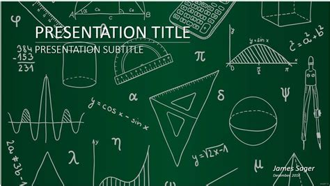 Free Mathematics Powerpoint 27558 Sagefox Powerpoint Maths Powerpoint Template