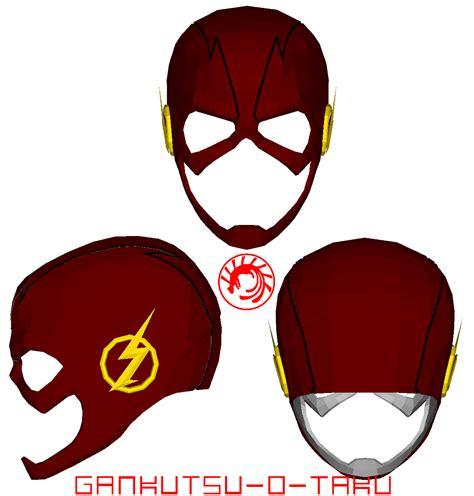 printable flash mask template cw the flash mask pepakura by gankutsu o taku on deviantart