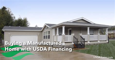 buying a manufactured home with usda financing usda loan