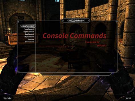 skyrim console blitz console commands mcm at skyrim nexus mods and