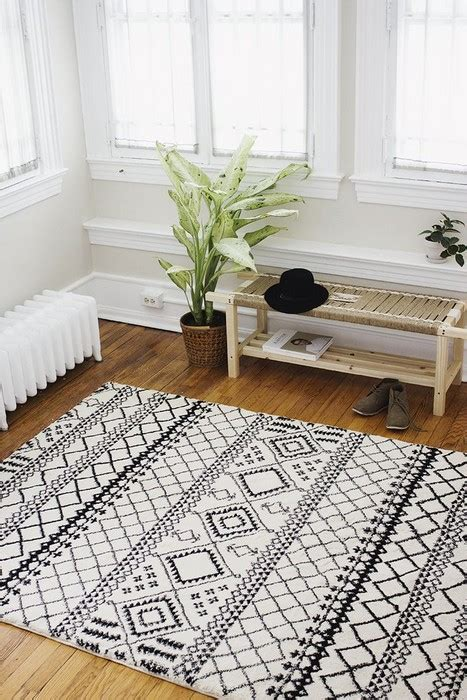 25 Interior Design with Black and White Rugs Interior Designs Home