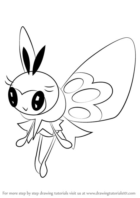 Artline Spidol Brush Tip Drawing Dan Colouring step by step how to draw ribombee from sun and moon drawingtutorials101