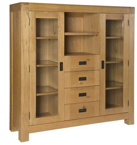 Display Cabinets Dining Room Furniture Hshire Solid Oak Dining Room Furniture Large Display Cabinet Ebay