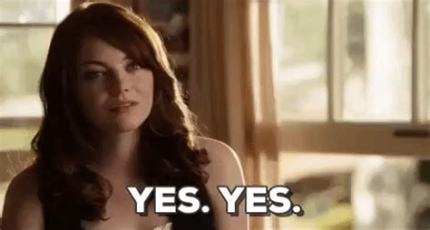 Yes Meme Gif - emma stone yes gif find share on giphy