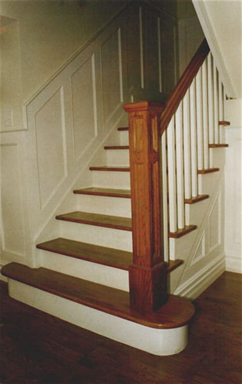 oak banister wood stair railings on pinterest iron stair railing