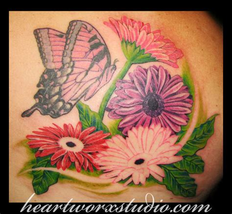 gerbera flower tattoo designs tattoos and designs page 76