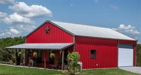 Pole Barn Building Prices True American Dream Metal Building Barn Home W Wrap
