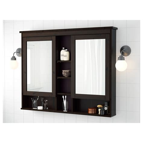 mirrored bathroom cabinets ikea hemnes mirror cabinet review reversadermcream com