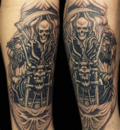 biker tattoos designs the of biker tattoos