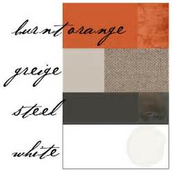 what color goes well with orange color scheme burnt orange gray for the home
