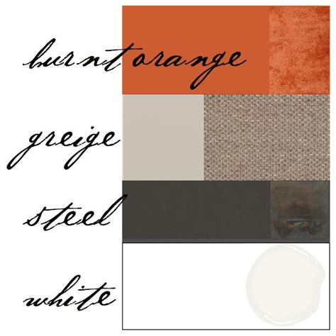 color scheme burnt orange gray for the home