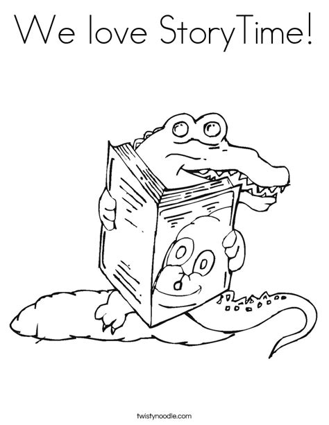 love story coloring pages we love storytime coloring page twisty noodle
