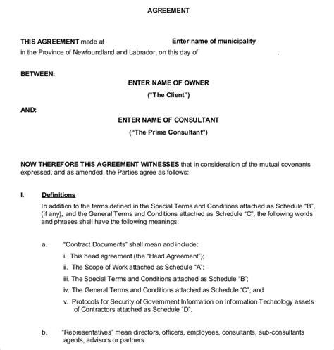 business contract agreement business contract template 17 free word pdf documents