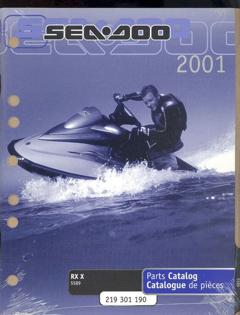 2001 Sea Doo Water Vehicles Rx X 5589 Jet Ski Parts Manual