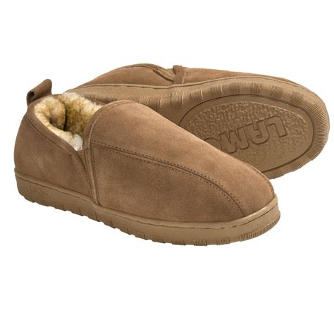 sheepskin lined slippers lamo romeo slippers suede sheepskin lined for