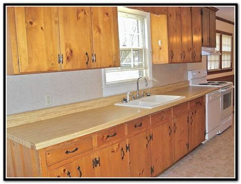 Kitchen Pine Cabinets Rustic Knotty Pine Kitchen Cabinets Home Design Ideas