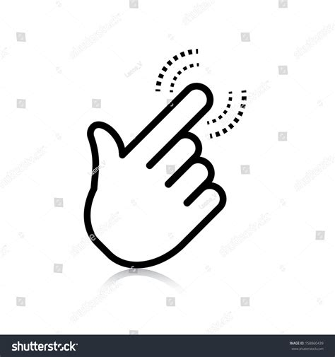 design on click click hand icon pointer vector eps8 stock vector 158860439
