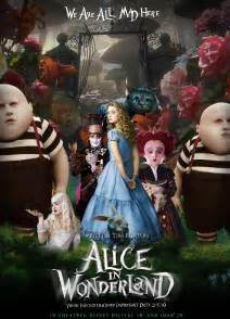 g324 a2 coursework film poster analysis alice wonderland 2010