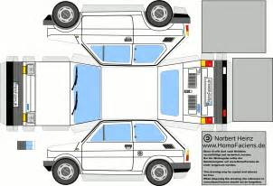 Paper Craft Car - fiat 126 papercraft homofaciens downloads for
