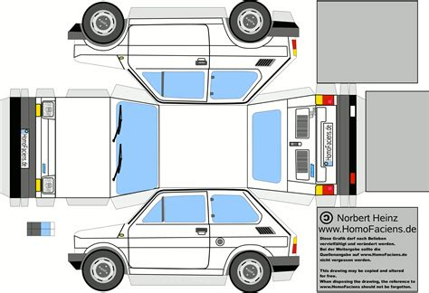 Paper Craft Cars - fiat 126 papercraft homofaciens downloads for