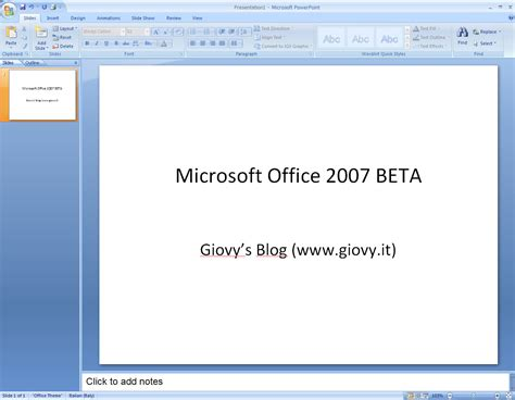 Microsoft Office Powerpoint 2007 recensione ms office 2007 beta 1 microsoft powerpoint