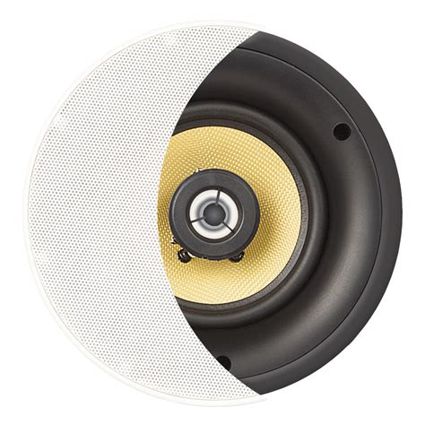 ace850 8 quot kevlar 174 trimless thin bezel ceiling speaker pair