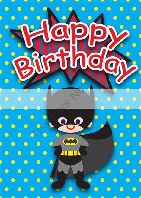 printable birthday cards for a boy printable clipart digital pdf file superhero 5 x 7 inch