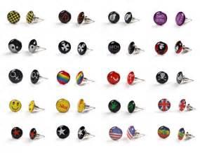earing for boys logo stud earring ear ring boys unisex piercing ebay