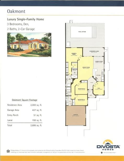 divosta floor plans village walk bonita springs oakmont
