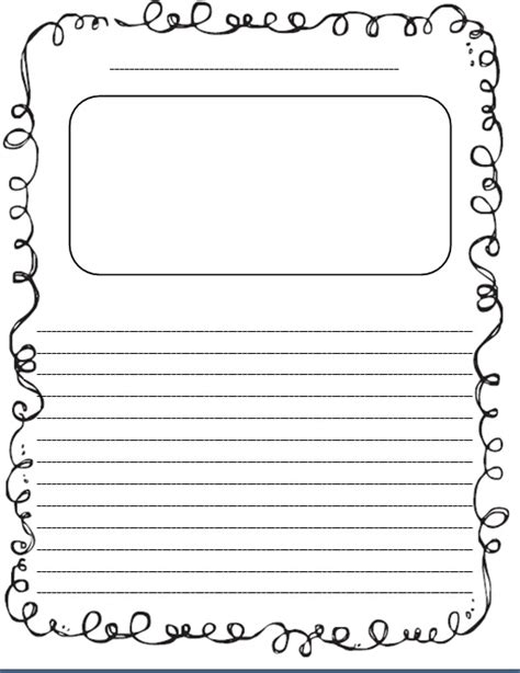 student writing paper template sticker story paper freebie inspired elementary