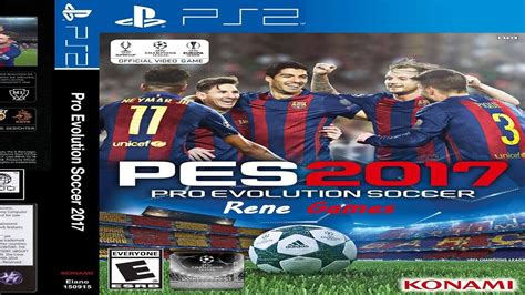 download game pes ps2 format iso pes 2017 ps2 espa 241 ol portugues by rene games ps2 youtube