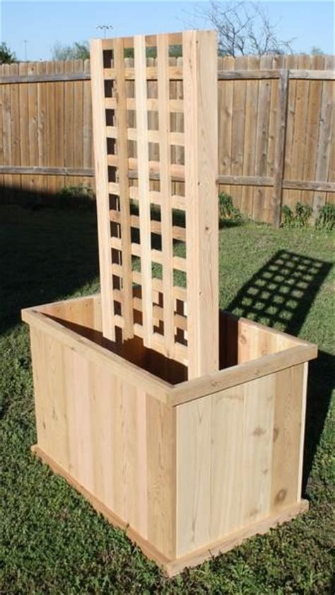 4 Ft Planter Box by New Cedar Wood Planter Box 2 Ft X 4 Ft X 2 Ft With 6 Ft Trellis Garden Container Ebay