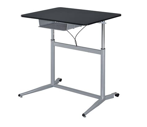 Adjustable Writing Desk by 800652 Blackk Silver Adjustable Height Writing Desk From