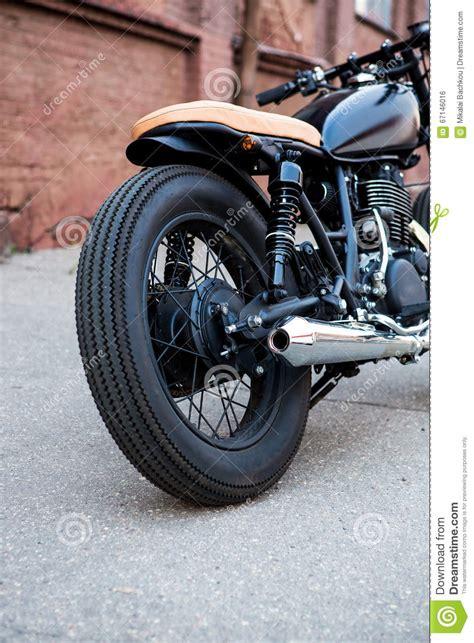 black vintage custom motorcycle cafe racer stock photo image 67146016