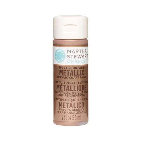 martha stewart crafts 2 oz copper multi surface metallic acrylic craft paint 33002 the