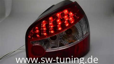 Led R Ckleuchten Audi A3 by Sw Light Led R 252 Ckleuchten Audi A3 8l Red Clear Sw Tuning