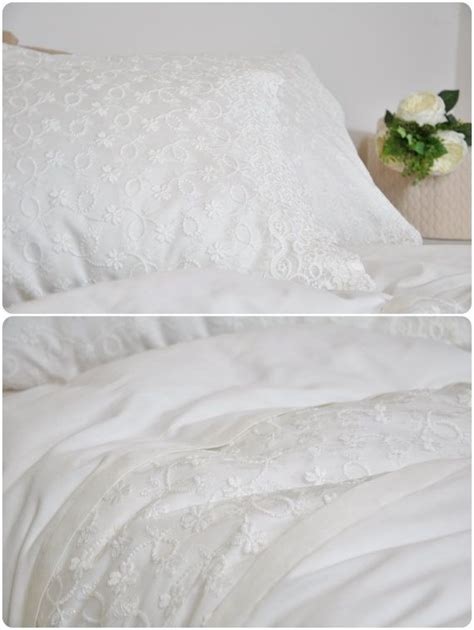 ivory lace duvet cover set in full queen king size