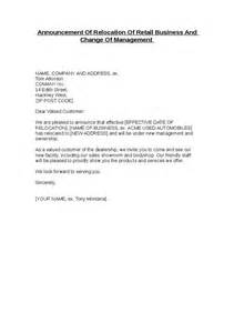 change of management letter template sle letter announcement of business name change