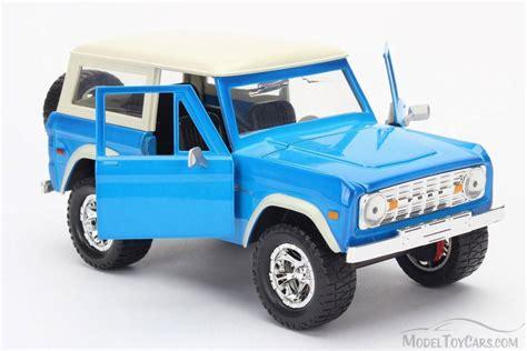 blue bronco car 1973 ford bronco truck blue jada 97824w 1 24 scale