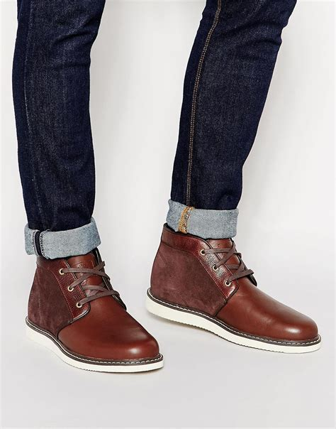 timberland newmarket boots timberland newmarket chukka boots in brown for lyst