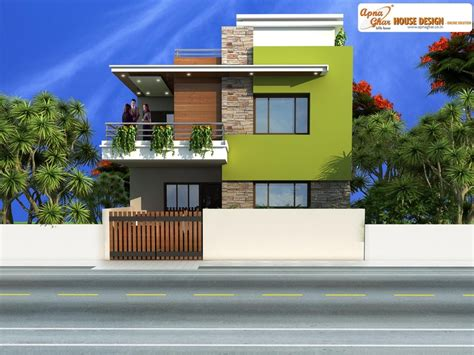 pin  apnaghar  apanghar house designs duplex house design duplex house house design
