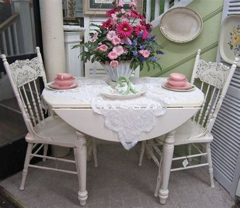 shabby chic kitchen table vintage shabby chic round kitchen table drop leaf hand