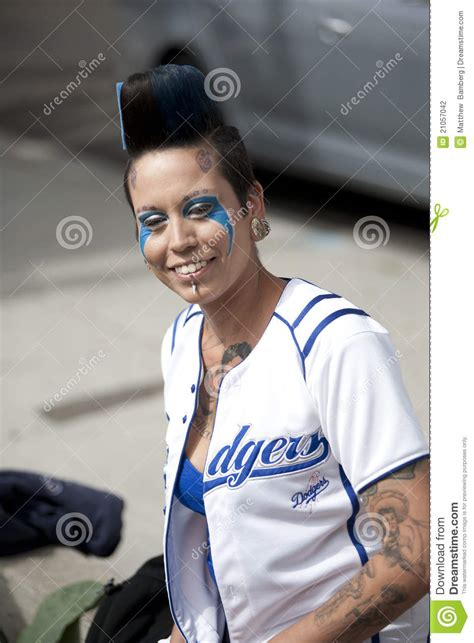 dodgers fan editorial photography image
