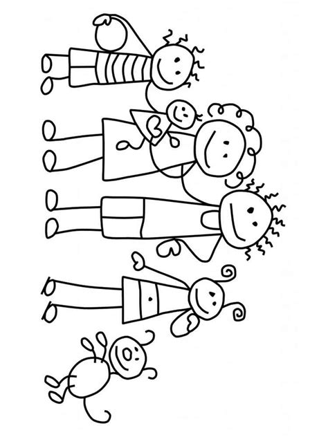 family picture coloring page family coloring pages download and print family coloring