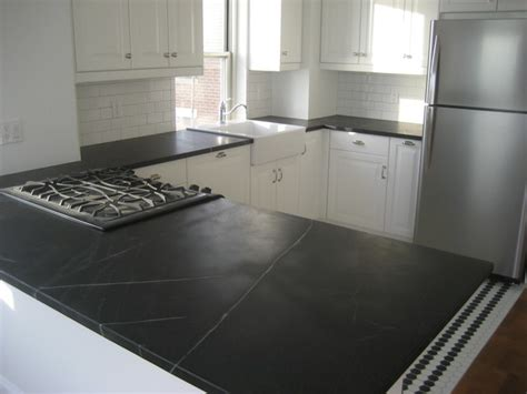 Soapstone Tile Countertop soapstone kitchen countertop in downtown manhattan traditional kitchen new york by m